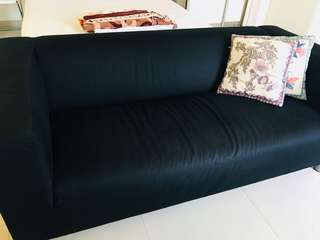 2 seated IKEA Black Sofa