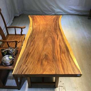 Acacia wood table top with live edge china wood slab