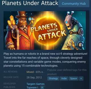 [Clearance Sale] Steam - Planets Under Attack
