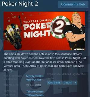 [Clearance Sale] Steam - Poker Night 2