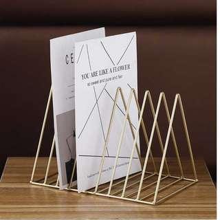 Wire Triangle Book Rack