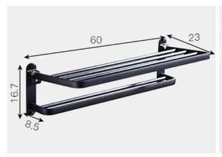 Black Stainless Steel Towel Bar
