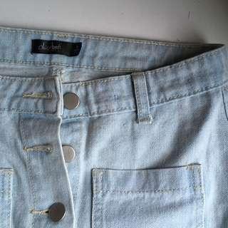 Button up denim skirt size 8