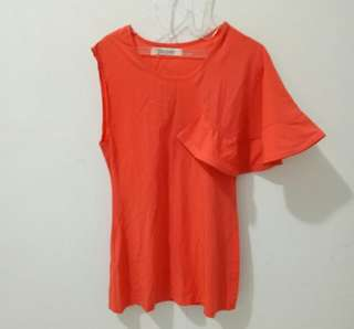 Mini dress orange