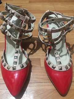 Valentino inspired red shoes