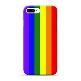 LGBT Gay Pride Flag iPhone 8 Plus Custom Hard Case