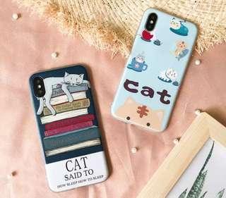 I phone 手機 貓咪可愛軟機手機殼
