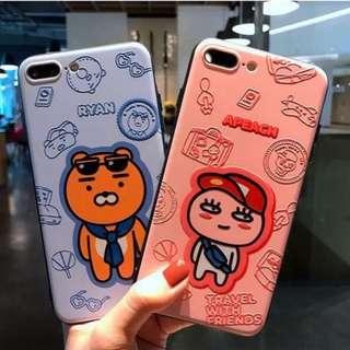 韓國直送!Kakao Friends 雕花iPhone case