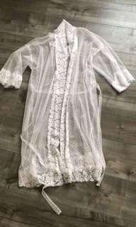 Amanda barden hand made bridal robe