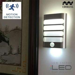 Wall Night light Motion Body Sensor Corridor LED Lamp (with 11 LED bulbs)