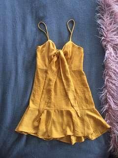 Alayna Mini Dress- Mustard