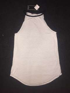 Long Striped Singlet Top - COTTON ON