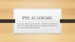 PTE Academic( English Test For Migration)