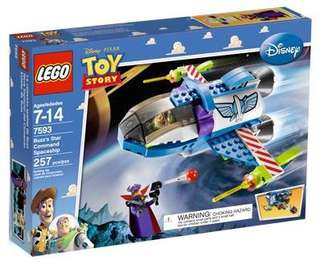 🆕 LEGO 7593 Toy Story Buzz's Star Command Spaceship