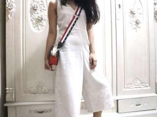 White jumpsuit size s-m