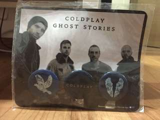 Coldplay Collectibles Pins