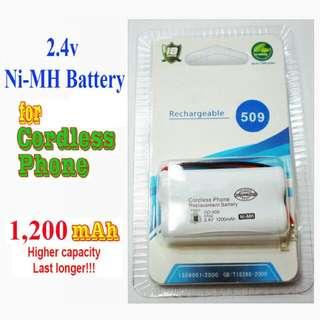 High Capacity Cordless Phone Battery 2.4v