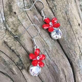 🚚 自然派系列-耳針式耳環 典雅 大氣 高CP earrings 水鑽