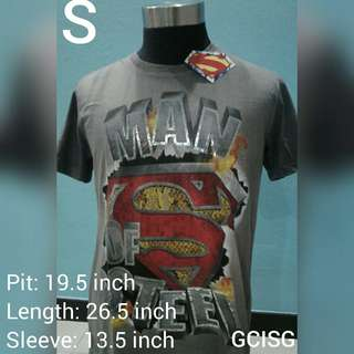 "🚚 DC Comics Superman ""Man Of Steel"" T-Shirt"