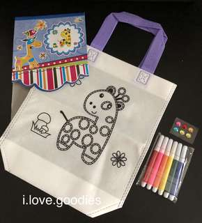 Art and craft coloring bag (giraffe) - children birthday party goodies bags, goody bags gift