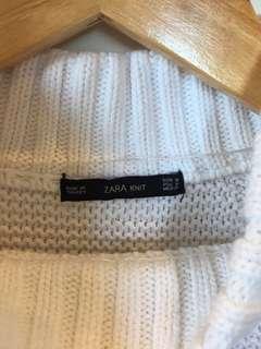 Zara white knit