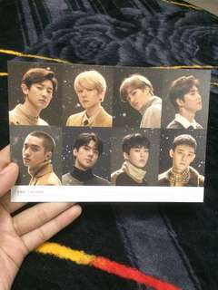 EXO LIMITED EDITION UNIVERSE OFFICIAL POSTCARD