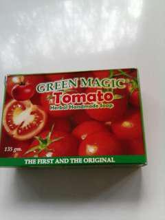 Green magic tomato herbal handmade soap
