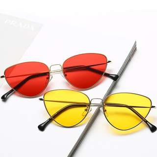 Women Fashion Street Metal Color Film Tidal Sunglasses