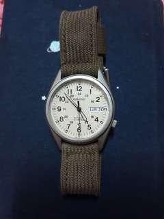 🚚 SEIKO精工手錶型號SN095P2中性錶光動能礦石高強化玻璃帆布錶帶防水100米