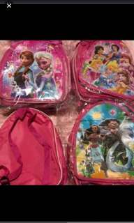Instock now!! Durable Kids goodies bag can still use after event as casual bag .. design - frozen/moana/trolls/Minnie /Sofia/princess/pj mask/paw patrol/mc Queen/spiderman.. pm me For Bulk purchase .. ideal birthday gift set