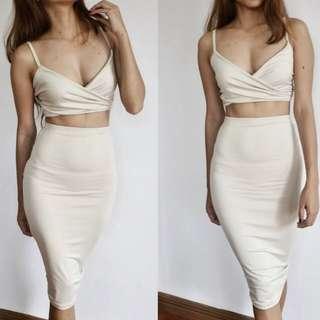 Midi Nude Coordinates / Terno / Dress