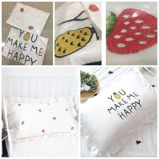 Strawberry Pineapple Pillow Case Sarung Bantal