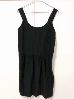 COOP Barneys New York little black dress 100% silk
