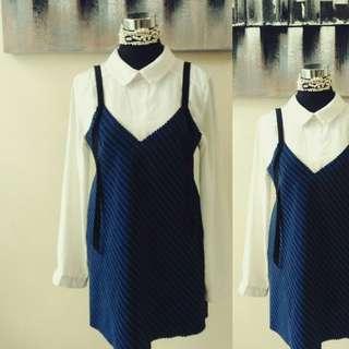 Sexy Blue Slip On Dress