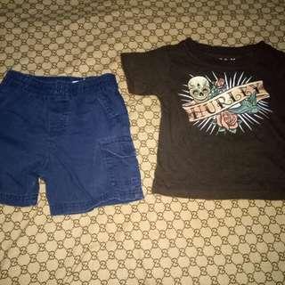 Take Hurley Tshirt&Garanimals Shorts(Size 18-24M)