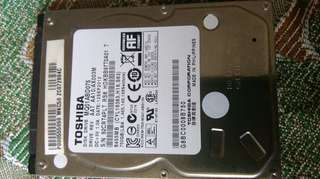 Toshiba 750gb laptop hard disk