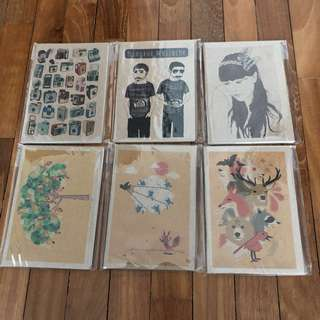 A set of 6 notebooks