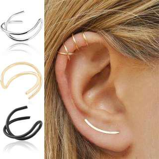 BN Women's Ear Wrap Clip on Cuff Cartilage Earring Vintage Gothic [MJN101]