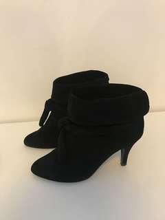 Forever New black velvet boots