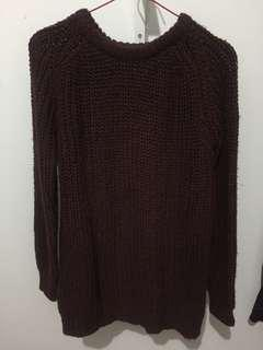 Dark maroon sweater