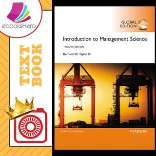 Introduction to Management Science by Bernard W Taylor III