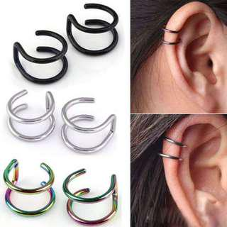 BN Men's Women's Ear Clip Clip-on Earrings Non-piercing Ear Cartilage Cuff Eardrop [MJN105]
