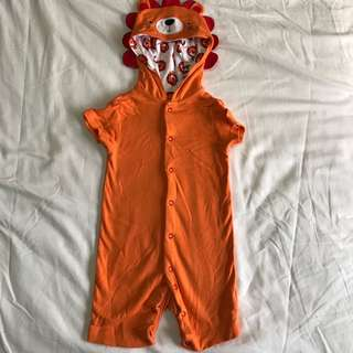 Mothercare Lion Romper with Hood