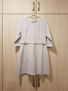 YACHT baby blue shift dress with 3/4 sleeves. UK12/L. New with tags- original price  $69.90