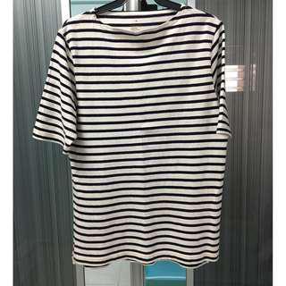 Muji Organic Cotton Striped T-shirt