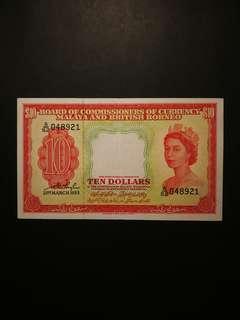 Malaya Queen $10 1953 (GEF)