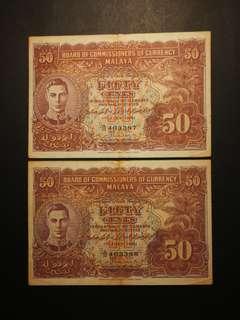 King George 50 Cents 1941 (GEF/AU)