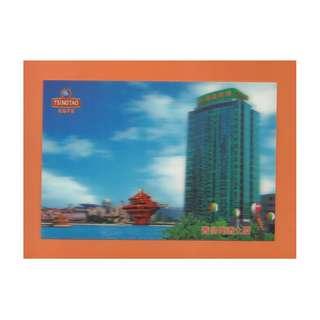 3D卡-04-TSING TAO-青島啤酒大厦,背面---BEJING 2008奧運標誌及青島啤酒贊助商(圖二)