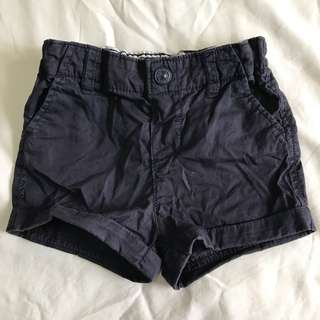 H&M navy blue baby boy shorts