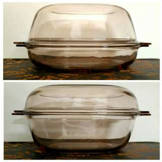 Pyrex Brown Glass Oval Large Casserole